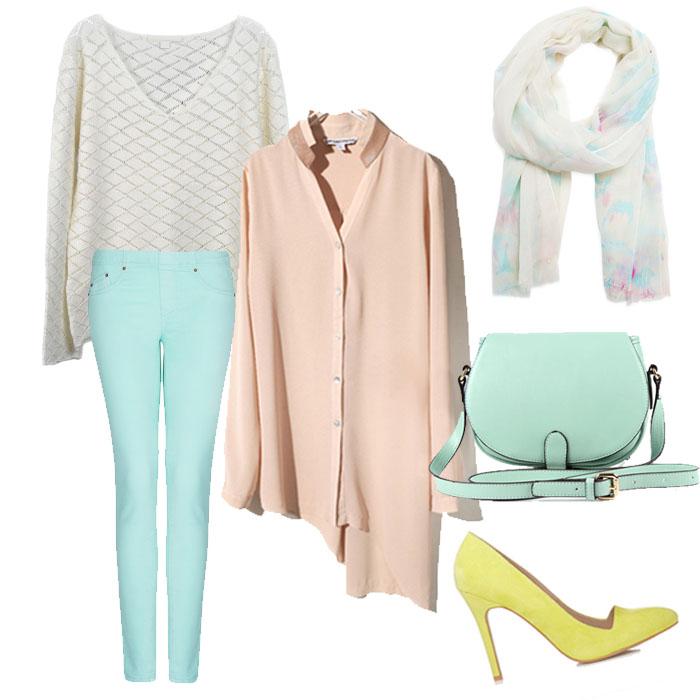 Mint lace dress outfit