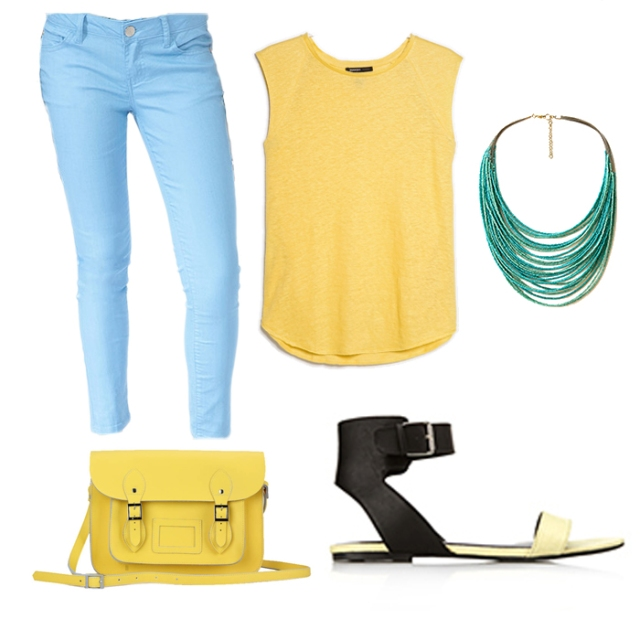 color blocking outfit for petites 3